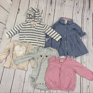 5 piece lot of h&m baby girl clothes
